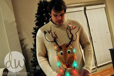 How to: Make a homemade Ugly Christmas Sweater {and force your husband to wear it} - Wellsphere