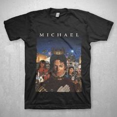 "Michael Jackson - Retrospective Mens T-Shirt In Black: ""The King of Pop: The Life of Michael Jackson"" artwork by Kadir Nelson"