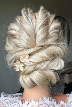 36 Hottest Bridesmaids Hairstyles Ideas ❤ hottest bridesmaids hairstyles ideas swept updo elegant on blonde hair with flowers styles_by_reneemarie Bridal Hair Updo, Wedding Hair And Makeup, Hair Wedding, Wedding Stuff, Party Hairstyles, Bride Hairstyles, Bridesmaids Hairstyles, Bridesmaid Hair Down, Wedding Bridesmaids