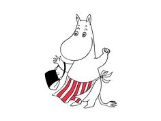Moominmamma is a calm and collected mother who never lets little things get on her nerves. She ensures. Happy Mother S Day, Happy Mothers, Moomin Tattoo, Cartoon Hippo, Freehand Machine Embroidery, Tove Jansson, Little My, Finland, Emoji