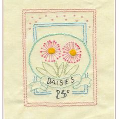 English Daisy- stitched