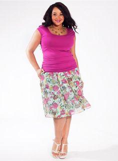 Becky Tank Top in Magenta