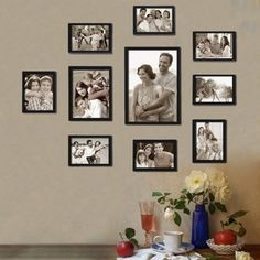 Adeco Decorative Black Wood 10-piece Wall Hanging/ Table Top Photo Frame | Overstock.com Shopping - The Best Deals on Photo Frames & Albums