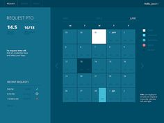 Paid Time Off Scheduler designed by Jordan DeVries for Brave UX. Calendar Ui, Paid Time Off, World Of Tomorrow, Futuristic Design, Schedule, Jordans, Brave, App, Timeline