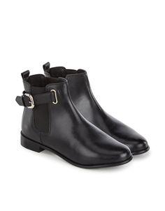 Poppy Buckle Chelsea Boot   Black   Accessorize