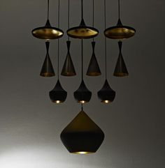 tom dixon light fixtures to be found in my craft room.....