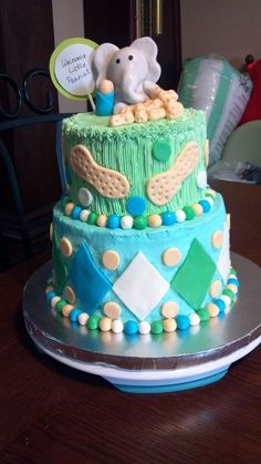 Welcome Little Peanut Baby Shower Cake Cake Let Them