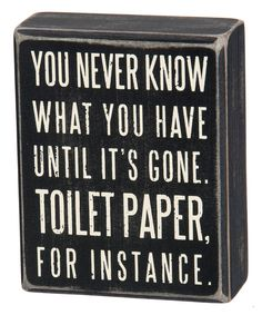 Look at this 'Toilet Paper' Box Sign on #zulily today!