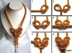 my next diy, knot necklace so beautiful