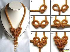 my next diy, knot necklace so beautiful