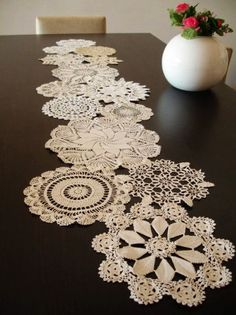 Crochet Table Runner Free Pattern for 2015 Christmas - Christmas Crafts, Reindeer Decor, Christmas Tree - LoveItSoMuch.com