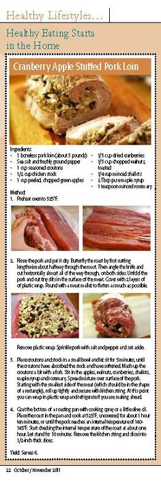 Great fall pork recipe.