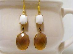 Vintage Gold Earrings Gold Valentines Earrings by Sweetystuff, £16.00