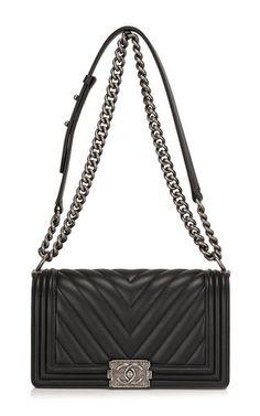 d114851d216b CHANEL Medium Chevron Boy Bag, Ruthenium Hardware Chanel Bag Black, Chanel  Le Boy,