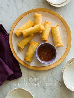 Vietnamese-Style Pork and Shrimp Egg Rolls