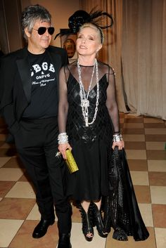 Clem Burke with Debbie Harry in Tommy Hilfiger at the Met Gala