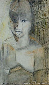 Polynesian Girl by Louise Henderson