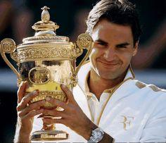 Roger Federer, Swiss tennis player. 16 Grand Slam singles Titles. Olympic Champion.