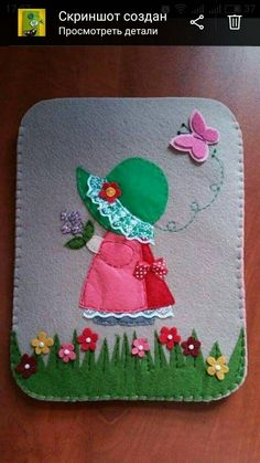 How-To: Reverse Appliqué Felt Patterns, Quilt Patterns Free, Embroidery Patterns, Girls Quilts, Baby Quilts, Felt Phone, Sewing Crafts, Sewing Projects, Felt Bookmark