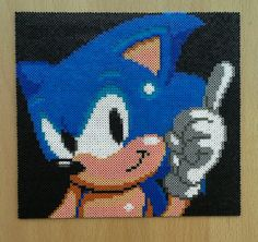Sonic The Hedgehog Large Picture. Available by PixelBeadPictures, £20.00