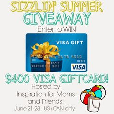 400 Visa Gift Card Giveaway at ALittleClaireification.com