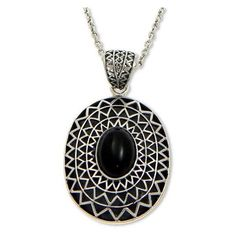 NOVICA Onyx pendant necklace ($126) ❤ liked on Polyvore featuring jewelry, necklaces, onyx, pendant, black onyx necklace, novica jewelry, pendant chain necklace, tribal pendant and onyx jewelry