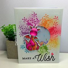 Magical Dragons and Flashy Florals from MFT Stamps. #cardmaking #cards #cardmaker @jamesee22