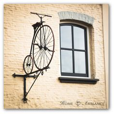 Old bicycle photography Dutch decor Window by HomeAmbiancePrints