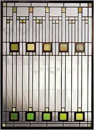 Frank Lloyd Wright - geometric glass design from the 1930's
