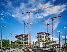 WOLFF Rudel im Großeinsatz auf der Baustelle der Bavaria Towers im Münchner Osten.