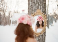 Fashion Apparel 2012: Pink and gold winter wedding inspiration.