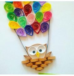 Owl on filigree paper - Quilling Paper Crafts Quilling Birthday Cards, Paper Quilling Cards, Paper Quilling Jewelry, Paper Quilling Patterns, Quilled Paper Art, Owl Paper, Neli Quilling, Quilling Paper Craft, Paper Crafts