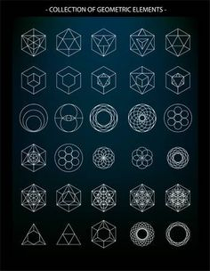 Sacred Geometry Vector Illustrations – Vol. 5 Naming Guide Sacred Geometry Vector Illustrations – Vol. Sacred Geometry Patterns, Geometry Shape, Sacred Geometry Tattoo, Alchemy Symbols, Magic Symbols, Geometric Drawing, Geometric Art, Hexagon Tattoo, Magic Circle