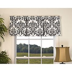 @Overstock - Accent your window with this traditional double pleat valance. This window fabric features a black and white print.http://www.overstock.com/Home-Garden/Arbor-50-in.-Window-Valance/4697219/product.html?CID=214117 $27.49