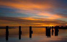 Zeelandbrug zonsondergang sunset S.M.H. Havenlust.nl http://instagram.com/silvitje/