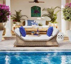 Outdoor Furniture Sets, Outdoor Decor, House Exteriors, Sun Lounger, Beach House, Bed, Home Decor, Beach Homes, Chaise Longue
