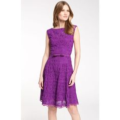 Nanette Lepore 'Balloon' Belted Lace Dress