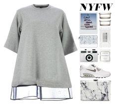 """""""NYFW"""" by luizajarosa ❤ liked on Polyvore featuring Maison Margiela, NIKE, Holga, Casetify, Herbivore Botanicals, Balenciaga, Stila, H&M, women's clothing and women"""