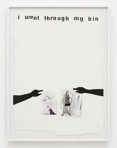 Frances Stark - I went through my Bin, 2008 Collage on paper 96.5 × 73.5 cm