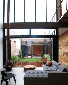 Atrium House by MESH Architectures, located in Brooklyn, NY
