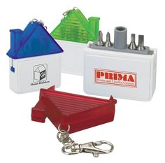 Promotional Valu-Mark Marketing House-shaped keychain tool | Promotional Key Chains | Promotional Products