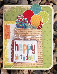 Stamping A to Z: birthday in a bag card... - Scrapbook.com