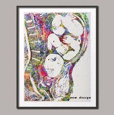 Watercolor Pregnancy
