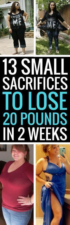 All you have to make are small sacrifices to lose a ton of weight in a short period of time.