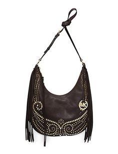 Michael Michael Kors Rhea Medium Studded Shoulder Bag