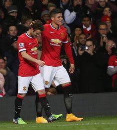 Mata & Rojo celebrating the winning goal, well done Lads ♥