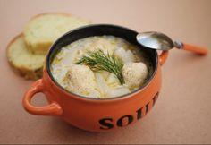 Karalábéleves kapros túrógombóccal Soup, Tableware, Ethnic Recipes, Kitchen, Baking Center, Dinnerware, Cooking, Dishes, Kitchens