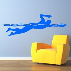 Swimming Front Crawl Wall Decal - Swimming & Diving - Sports & Hobbies