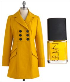 Two coat challenge: Fall outerwear and polish to match