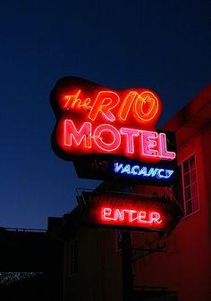 Oakland, California has vintage #neon gems like the Rio Motel.